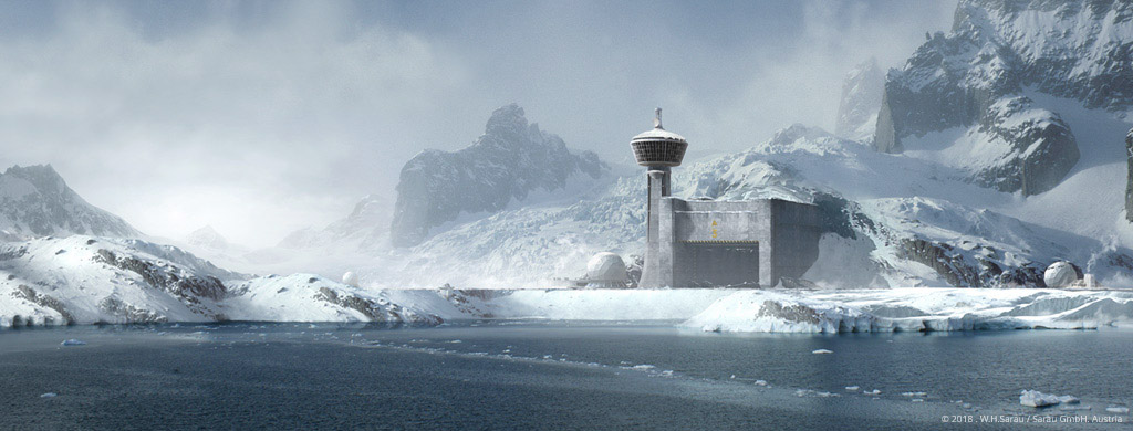 MOUNTAIN BASE - Digital Matte Painting by W.H.Sarau