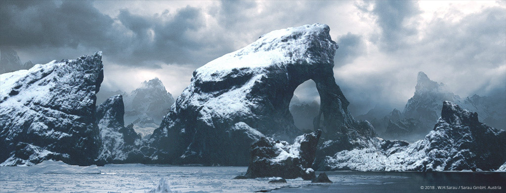 DAS TOR -  Digital Matte Painting by W.H.Sarau